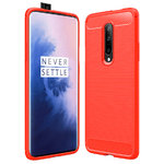 Flexi Slim Carbon Fibre Case for OnePlus 7 Pro - Brushed Red